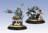 Trollblood Pyg Bushwacker Officer & Mortar (2)
