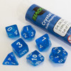 Blackfire RPG Dice set: Crystal Blue