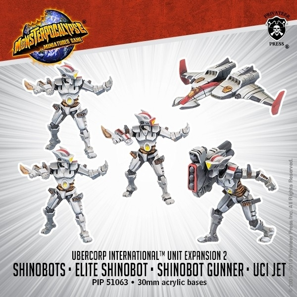 Monsterpocalypse: Shinobots, Shinobot Gunner, and UCI Jet