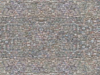 3D Cardboard Sheet: Quarrystone Wall: Multi-coloured