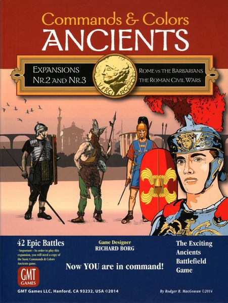 Commands & Colors: Ancients Expansions #2 and #3 – Rome vs the Barbarians; The Roman Civil Wars