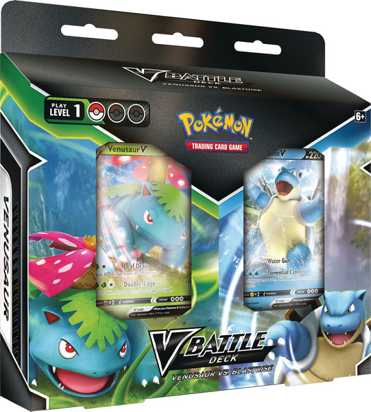 Pokémon TCG: Blastoise V & Venusaur V Battle Deck Bundle