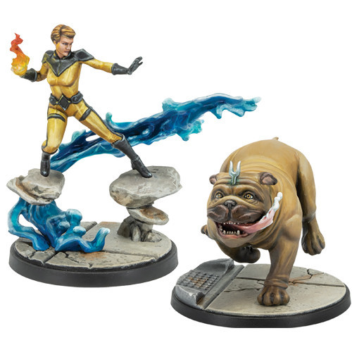 Marvel Crisis Protocol - Crystal and Lockjaw